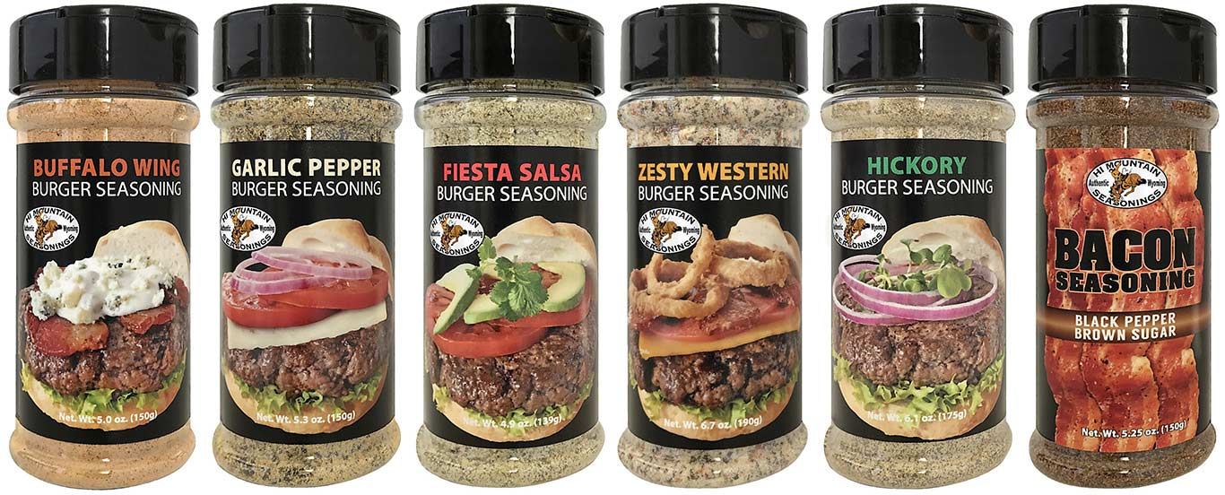New Hi Mountain Burger and Bacon Seasonings for wild game cooking.