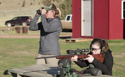 Kali Parmley covers the basics of hunting with first-time hunter, Danae Hale of CZ-USA.