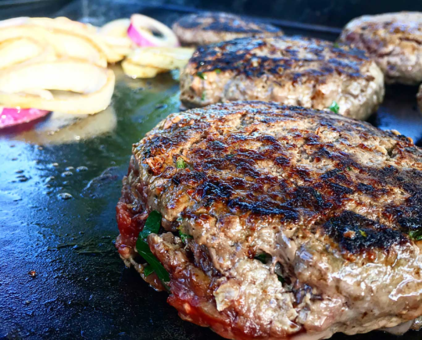 epic elk venison onion burger recipe grill