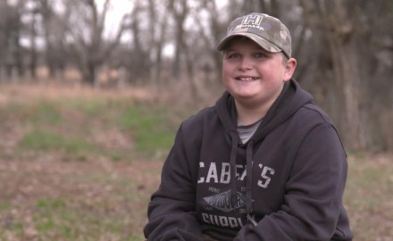 Mike Schoby takes his nephew, Mitchell on his first-ever whitetail hunt in Nebraska.