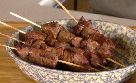 David Draper shares a venison kabob recipe made with blacktail backstraps and bourbon on this edition of