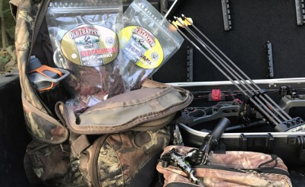 When deer hunters are in the middle of an all-day sit, they certainly will need some high-energy snacks to made it to the end. Start with Old Trapper jerky!