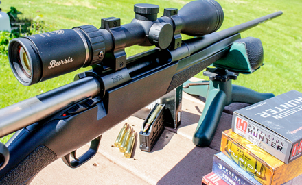 Burris scope on rifle