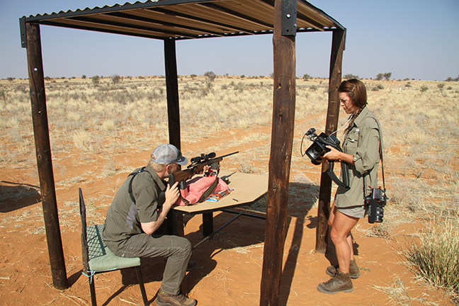 Nick Hoffman and Karla in Namiibia