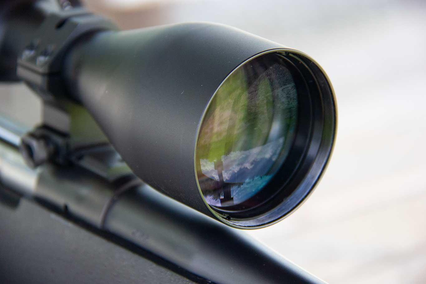 "Steiner H4Xi Rifle Scope close-up"" width="