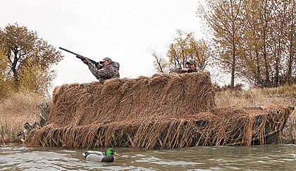 Hunting waterfowl without the benefit of a blind is like going fishing without a boat.