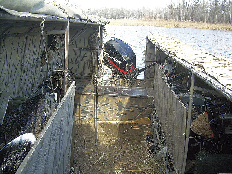Homemade Boat Blind Keeps Hunters Warm And Hidden