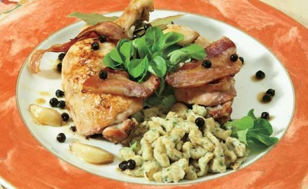 Chef Jacques Haeringer shows you a great tasting goose legs recipe that will satisfy everybody at the dinner table.