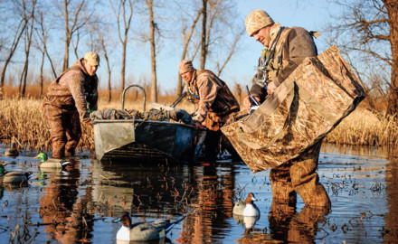 After spending part of the 1993 season hunting from a boat with a custom-made blind on the