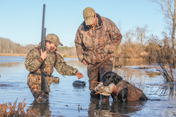 Duck Hunting with retrievers