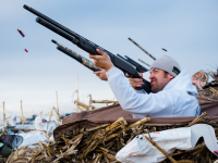 Concealment while Snow Goose Hunting