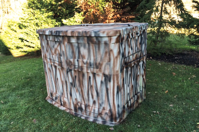 Trash to treasure diy duck blind wildfowl duck blind for bird hunting solutioingenieria Images