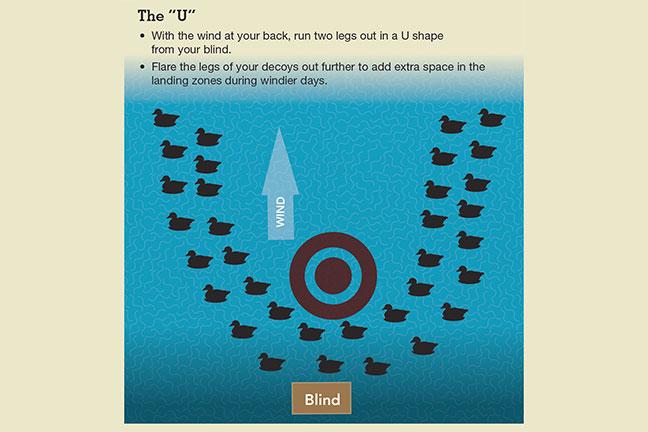 U Shaped Decoy Spread for Duck Hunting