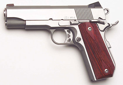 The sidearm is chambered for .45 ACP and 10mm.
