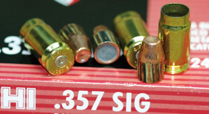 Fiocchi's .357 Sig round is one hot number.