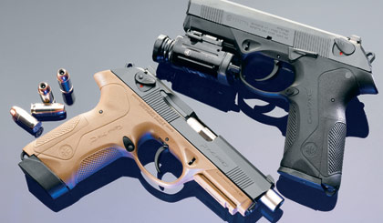 Beretta chambers its PX4 in .45 ACP, creating a trim, powerful pistol.