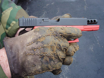 Gun handling with dirty, injured or gloved hands is no easy task.