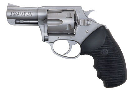 The Patriot is a solid-frame revolver and as such doesn't have a removable sideplate, a design that provides additional strength.