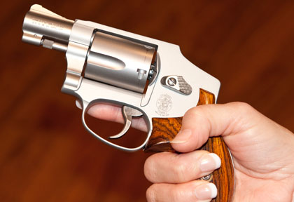 Gemini Custom grips offer beauty and a good hand-hold.
