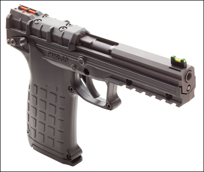 The PMR-30 operates on a hybrid blowback/locked-breech system.