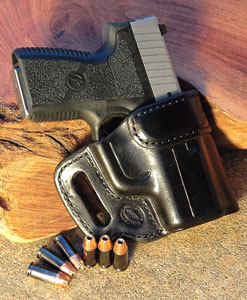 By Greg Rodriguez    The hand-molded Milt Sparks holster holds the gun securely