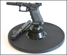 When cleaning or gunsmithing, Roto-Stand helps to securely hold your work.
