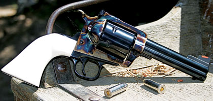 Trick shooter and gunsmith Bill Oglesby knows how to slick up a single action.