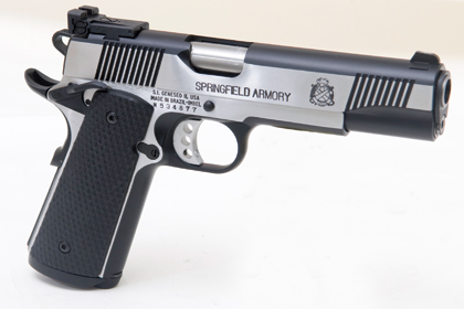 Springfield Armory 1911-A1 Loaded Black Stainless Target