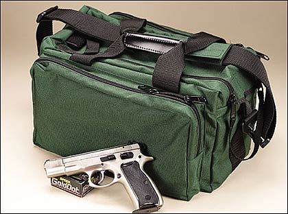 WRB offers the economical 15-inch Pro-Shooter Range Bag. It is made from 1000
