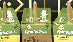 Three .22 Mag loads from  Remington proved to be real tackdrivers