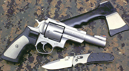 A custom five-inch .44 Magnum for camp or trail