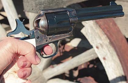 single action revolver rear sights