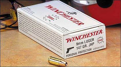 Winchester USA 9mm Hollowpoint Ammo