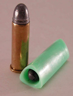 Q: There used to be a pistol that, instead of firing bullets from conventional cartridges, fired