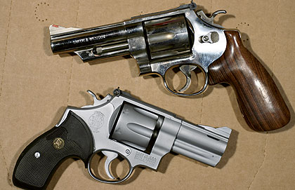 The author's favorite guns for the .44 Magnum are Smith & Wesson Model 29s of various vintages. However, he doesn't feed them the heavyweights, only loads up to 240s at 1,300 fps max. Hotter loads go into Rugers.