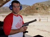 New shooter Tommy Richardson gets ready to shoot the .460 S&W.