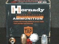 Hornady's new TAP load is designed for policework as well as self-defense. You can rely on this ammo, to be sure.
