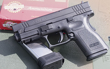 Springfield shrinks the grip frame to make the XD-45 more suitable for concealed carry.  Gun