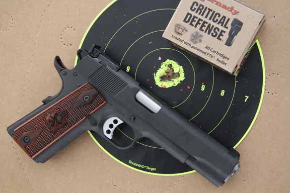 Springfield Armory Range Officer 1911 and Hornady Critical Defense ammo