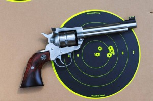 Ruger Single-10 and target