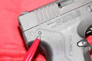 Beretta Nano takedown pin