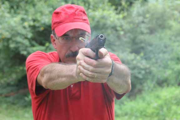 firing the Baby Desert Eagle II