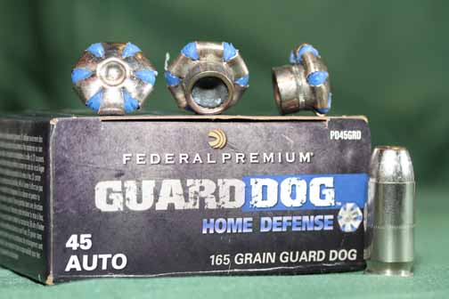 Guard Dog ammo employs a full-metal-jacket bullet that feeds like a dream and, unlike traditional FMJs, also expands, which makes it a great home-defense option.