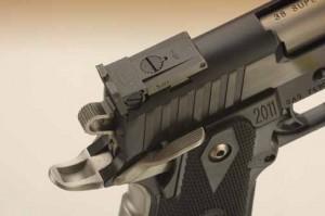 STI Eagle rear sight and controls