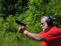 firing the H&K HK45 LEM
