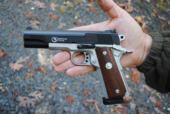 The Nighthawk .22 conversion allows the 1911 owner to engage in cost-effective target practice and training