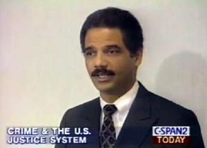 Eric Holder in 1995 C-Span clip