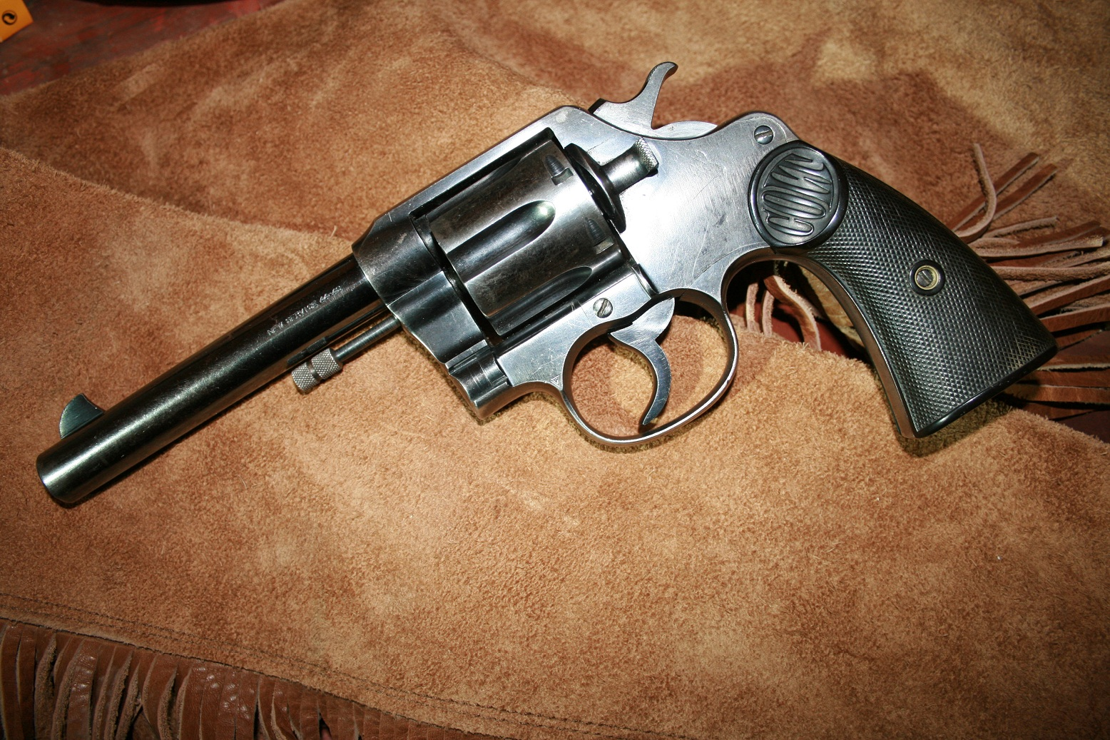 The New Service was a heavy framed revolver built for the big bore cartridges of its day, including the .45 Colt, .476 Eley, .44-40 and .38 Special, among others. This big-boned handgun was used by law enforcement and military personnel to great extent in the first half of the 20th Century, and rightly so. It not only was built for heavy, hard-hitting calibers, it was made to last.