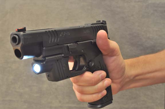 The new Crimson Trace Lightguard is a powerful, compact weapon light that's incredibly easy to operate.