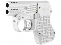 An all-white pocket pistol for the discriminating buyer
